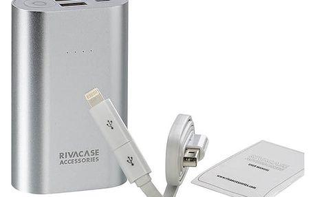 Power Bank RivaCase RivaPower VA1010 10000mAh stříbrná (RP-VA1010)