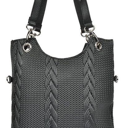 Černá kožená kabelka Mangotti Zanya