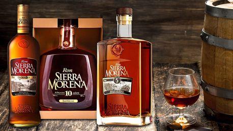 Špičkové karibské rumy Ron Sierra Morena