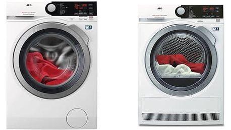 Set (Sušička prádla AEG AbsoluteCare® T8DBE48SC) + (Automatická pračka AEG ProSteam® L7FBE48SC) + DOPRAVA ZDARMA