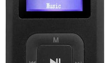MP3 přehrávač AQ MP01BK černý (6mp01bk)