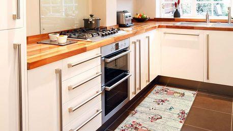 Vysoce odolný kuchyňský koberec Webtappeti French Garden,60x140cm