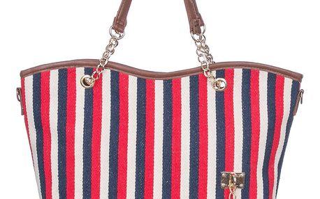 Fasion Icon Dámská taška shopper pruhovaná mořský motiv PY0008-32