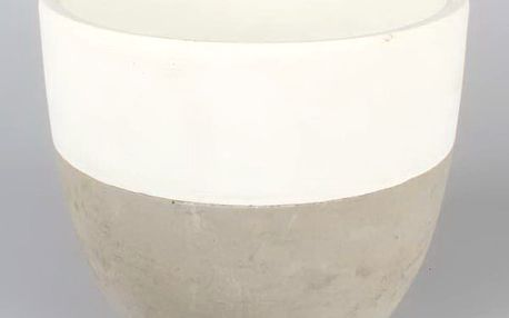 Betonový květináč Dakls Nata, ⌀ 20,5cm