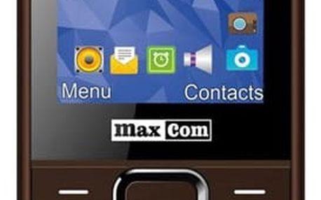 Mobilní telefon MaxCom MM141 Dual SIM hnědý (MM141BR)