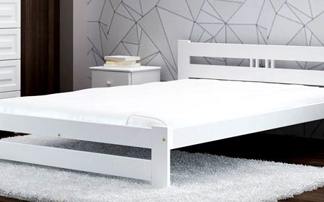 Dřevěná postel s roštem nebo s roštem a matrací