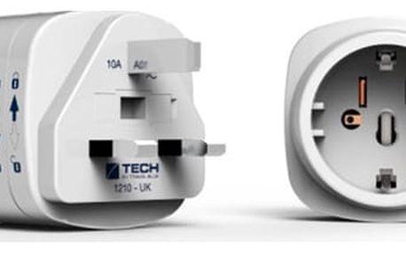 Cestovní adaptér TECH TBU-933 pro UK bílý