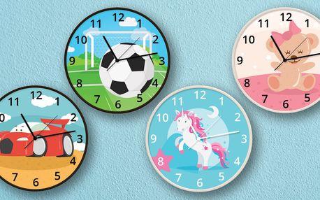 Dětské nástěnné hodiny s roztomilými motivy