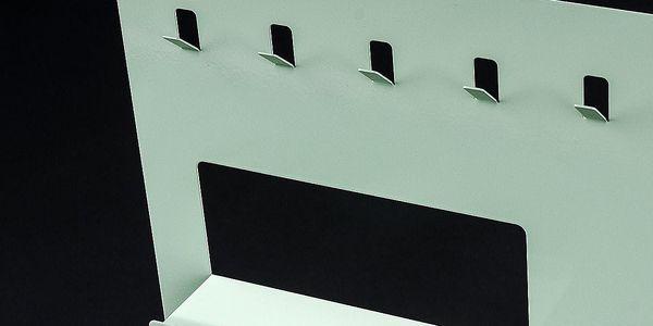 Neon Living Organizér Keywall na klíče s magnetickou tabulí 45 x 55 cm, zelený3