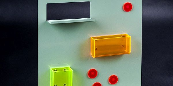 Neon Living Organizér Keywall na klíče s magnetickou tabulí 45 x 55 cm, zelený