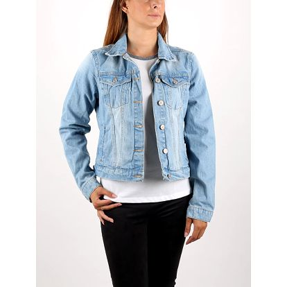Bunda Alcott GIUBBOTTO DENIM CON PATCH Modrá