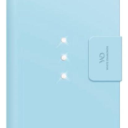 Pouzdro na mobil flipové White Diamonds Crystal Wallet pro iPhone 6 Plus / 6s Plus modré (WD-1322TRI65)