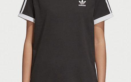 Tričko adidas Originals 3 Stripes Tee Černá