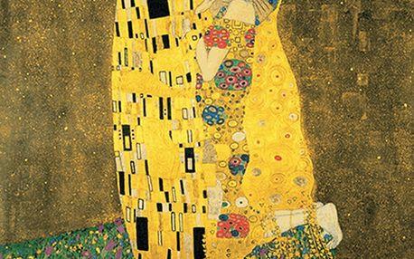 Reprodukce obrazu Gustav Klimt The Kiss, 90x90cm