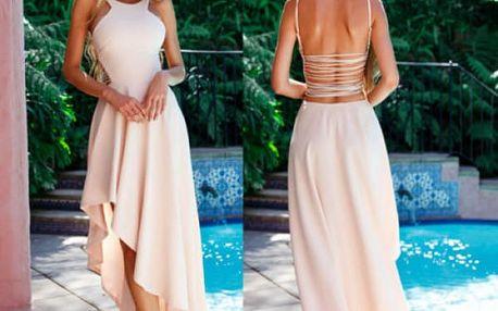 Asymetrické šaty Sofia - 2 barvy