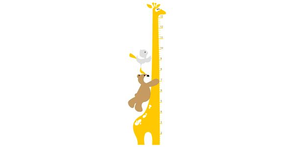 Samolepicí dekorace Žirafa dětský metr