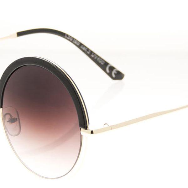Looks style Dámské sluneční brýle Ombre kulaté