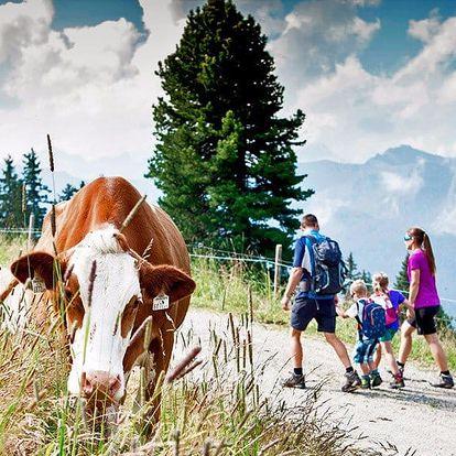 Letní pobyt v Tyrolsku: plná penze, děti zdarma