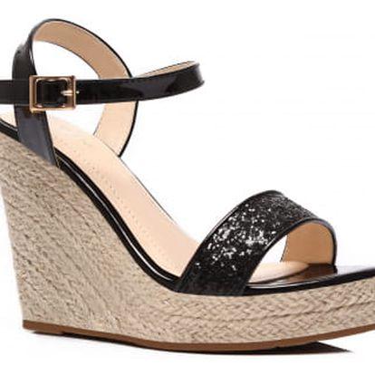 Dámské černé sandály Birke 2013
