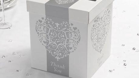 Box na obálky v bílé a stříbrné barvě Neviti Vintage Romance