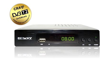 DVB-T2 přijímač DI-WAY T2-ONE HEVC H.265 DVB-T/T2, CRA T2 Ověřeno černý (472232)