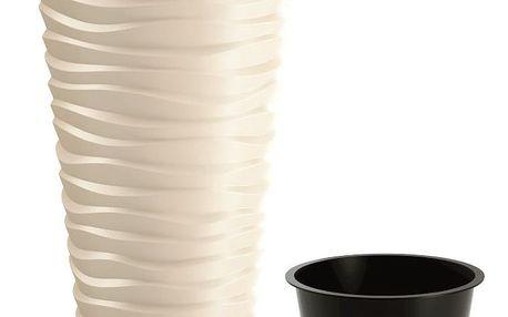 Prosperplast Květináč Sand Slim, béžová