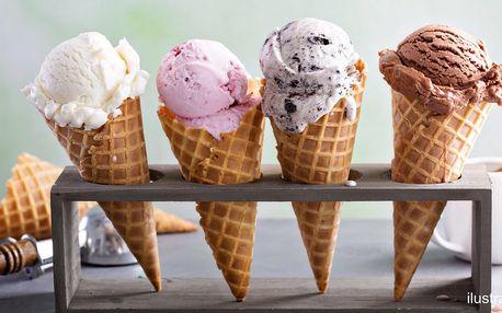 Zmrzlina v kavárně u náplavky: kopečky i poháry