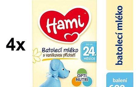 Hami 4 Vanilka od ukončeného 24. měsíce, 600g x 4ks