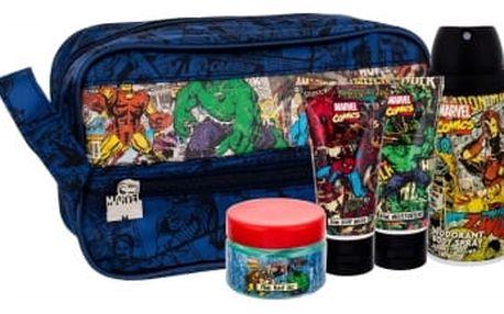 Marvel Comics Hero dárková kazeta deospray pro děti deodorant 150 ml + sprchový gel 50 ml + hydratační krém 50 ml + gel na vlasy 75 ml + kosmetická taška