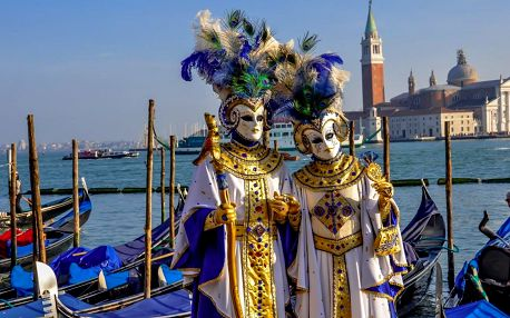 Karneval v italských Benátkách a ostrovy
