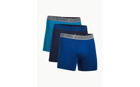 Boxerky Under Armour Charged Cotton 6Inch 3 Pack Barevná