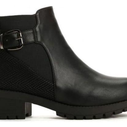 Dámské černé kotníkové boty Madlene 2142