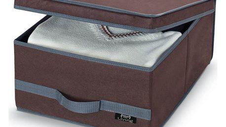 Hnědý úložný box Domopak Living, 18x45cm