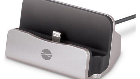Nabíjecí stojánek Forever DS-01 pro Apple iPhone stříbrný (ATCAPIP5DSTFSI)
