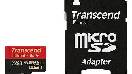 Transcend MicroSDHC 32GB UHS-I U1 (90MB/s) + adapter (TS32GUSDHC10U1)