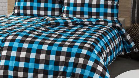 4Home 2 sady povlečení Checker, 140 x 200 cm, 70 x 90 cm