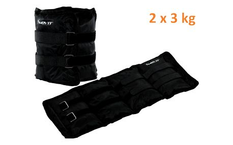 MOVIT 31951 zátěžové manžety, 2 x 3,0 kg černá