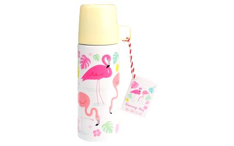 Termoska s hrnkem Rex London Flamingo Bay, 350 ml