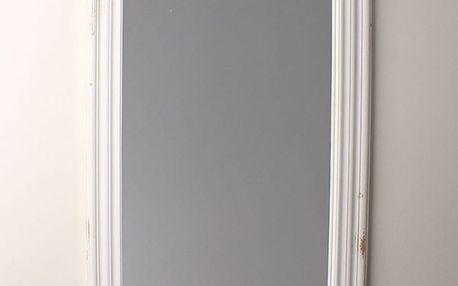 Zrcadlo v bílém dřevěném rámu, 56 x 76 cm