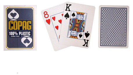 Copag Jumbo 2076 Poker karty 2 rohy Blue