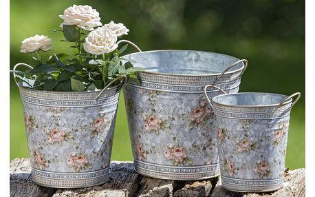 Sada 3 kovových květináčů Boltze Margaret
