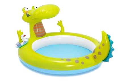 Intex Krokodýl s vodopádem 198x160x91cm (57431)