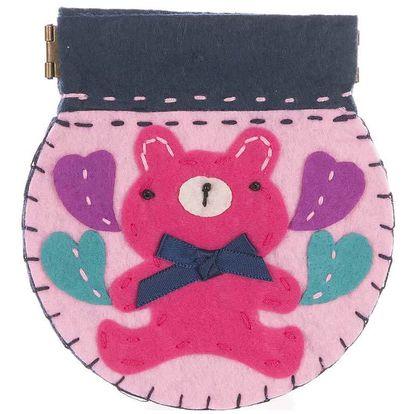 Fashion Icon Peněženka Medvídek flísová ruční práce