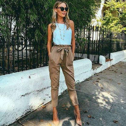 Dámské kalhoty s mašlí - 3 varianty