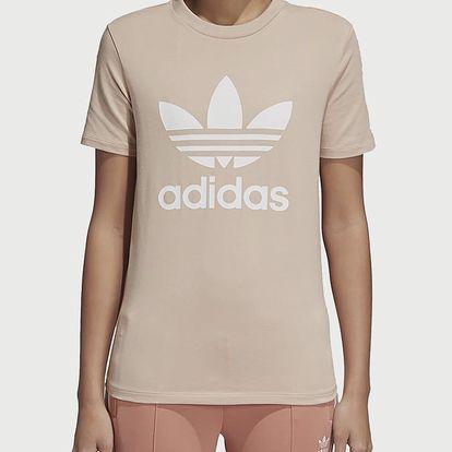 Tričko adidas Originals Trefoil Tee Béžová