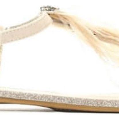 Dámské béžové sandály Elekia 7267