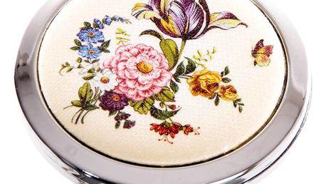 Kapesní kulaté zrcátko Retro Flowers polní květ