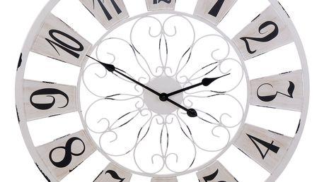 Kovové nástěnné hodiny, barva černá, Ø 75 cm Emako