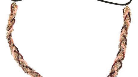 Fashion Icon Čelenky do vlasů s korálky propletené barevné