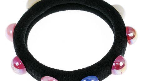 Fashion Icon Vlasová gumička perla barevná 1ks